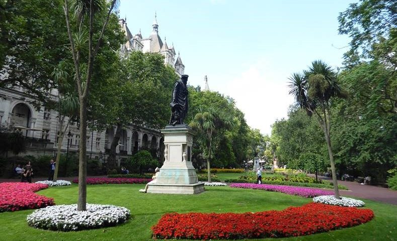Flowers In Bloom In Whitehall Gardens