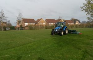 New Stealth rotary mowers working in Witney